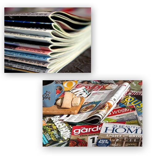 books and magazines saddle stitched